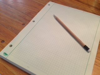 a-red-dot-and-a-blank-sheet-of-paper