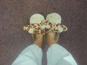 My favorite giraffe slippers