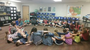 My traditional last day of school circle where we share our favorite moments of the year together.  All the feels.