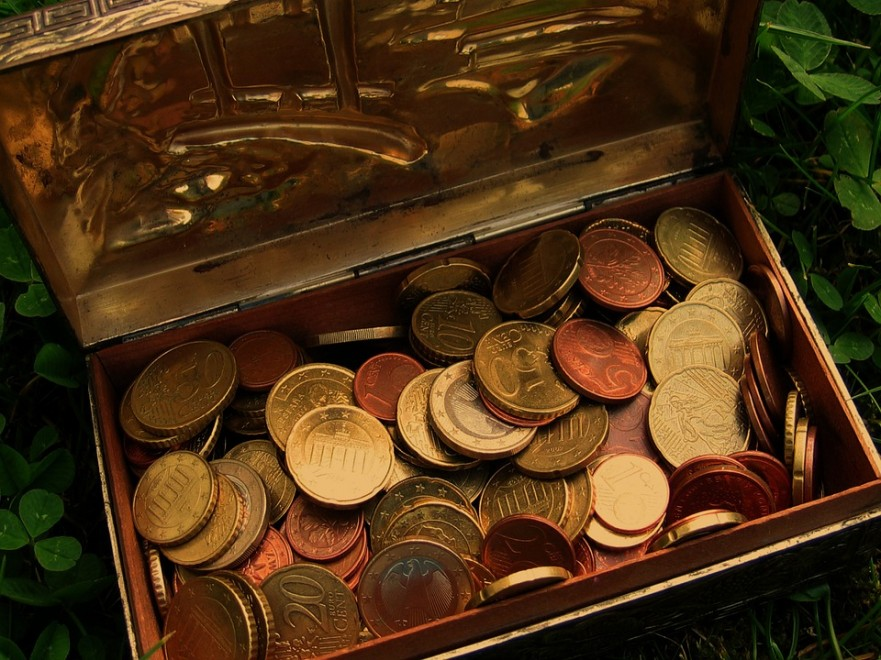 Money Treasure Cash Treasure Chest Coins Euro