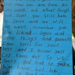 Letters to our lost friend