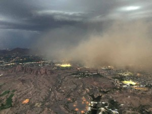 Photo of haboob from the air