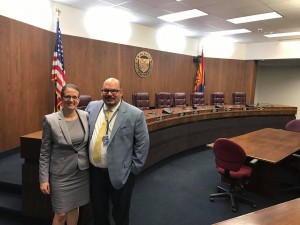Mike Vargas and I at the Arizona State Capitol, preparing to advocate for funding that would help increase access to physics across Arizona.