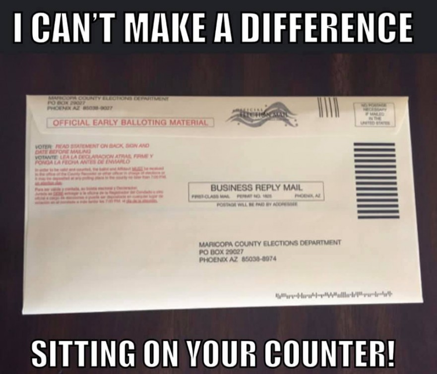 Ballot on Counter
