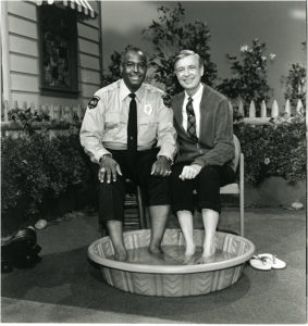 Officer Clemmons and Mr. Rogers